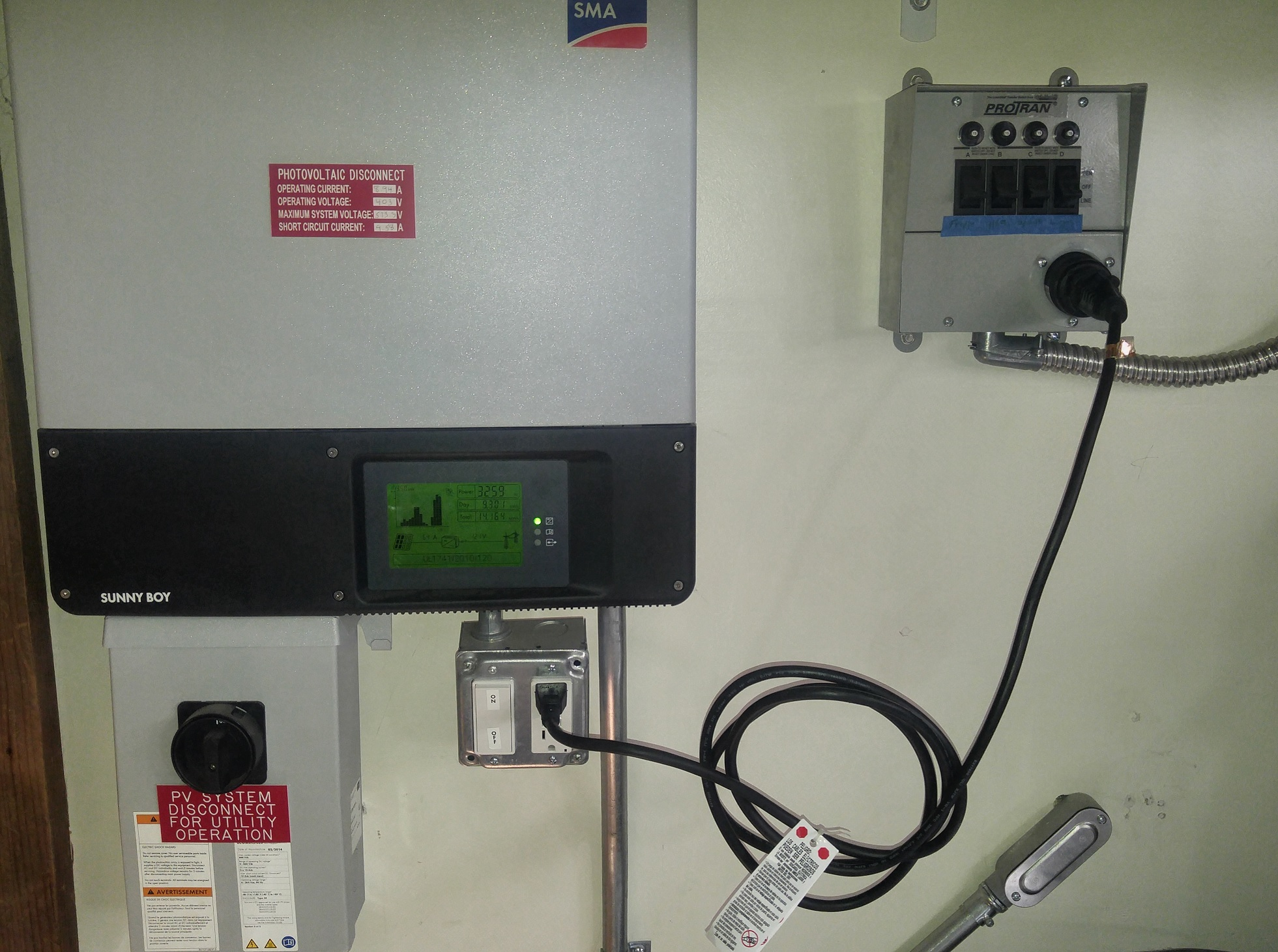 Generator Manual Transfer Switch - Inverter to MTS
