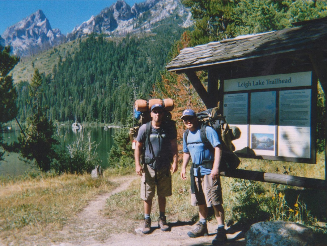 Backpacking the Grand Tetons Leigh Lake Trail Head