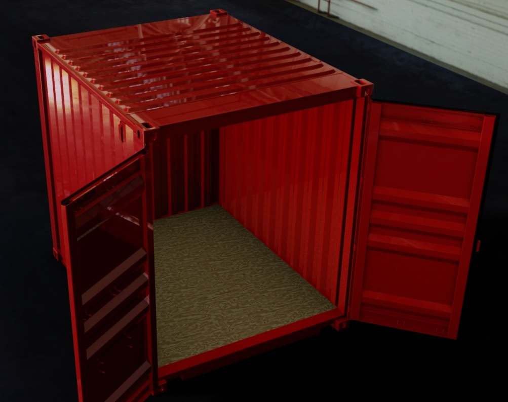 10ft High Cube ISO Shipping Container 3D CAD Model
