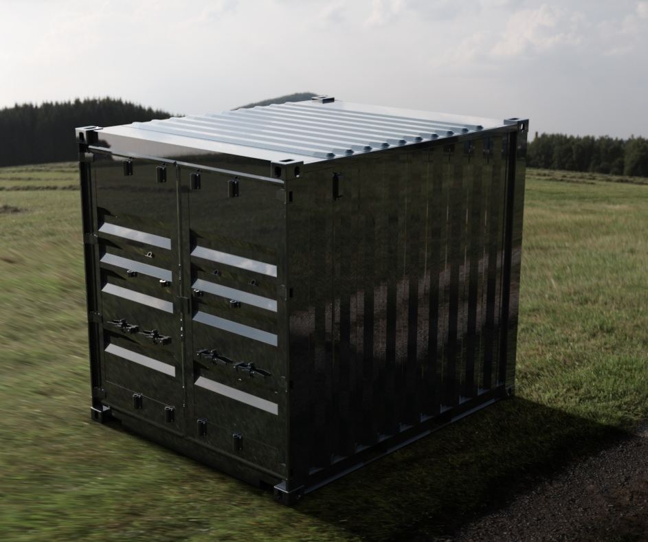 10ft ISO Shipping Container 3D CAD Model