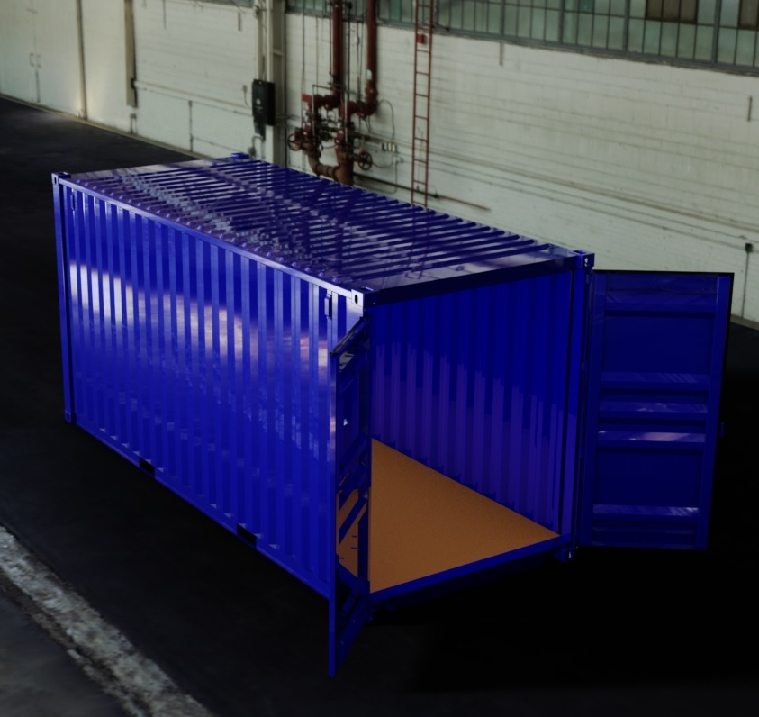 20ft High Cube ISO Shipping Container 3D CAD Model