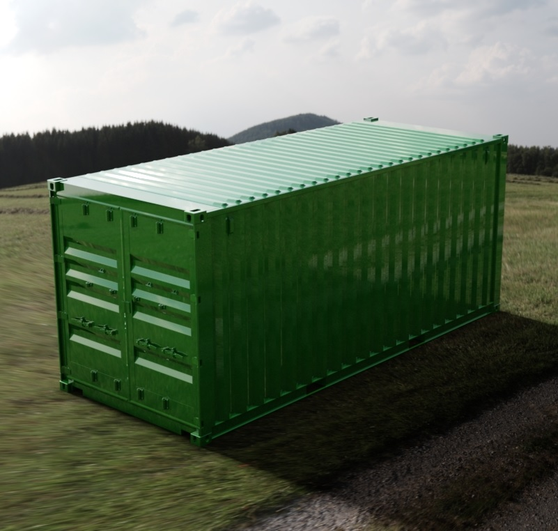 20ft ISO Shipping Container 3D CAD Model