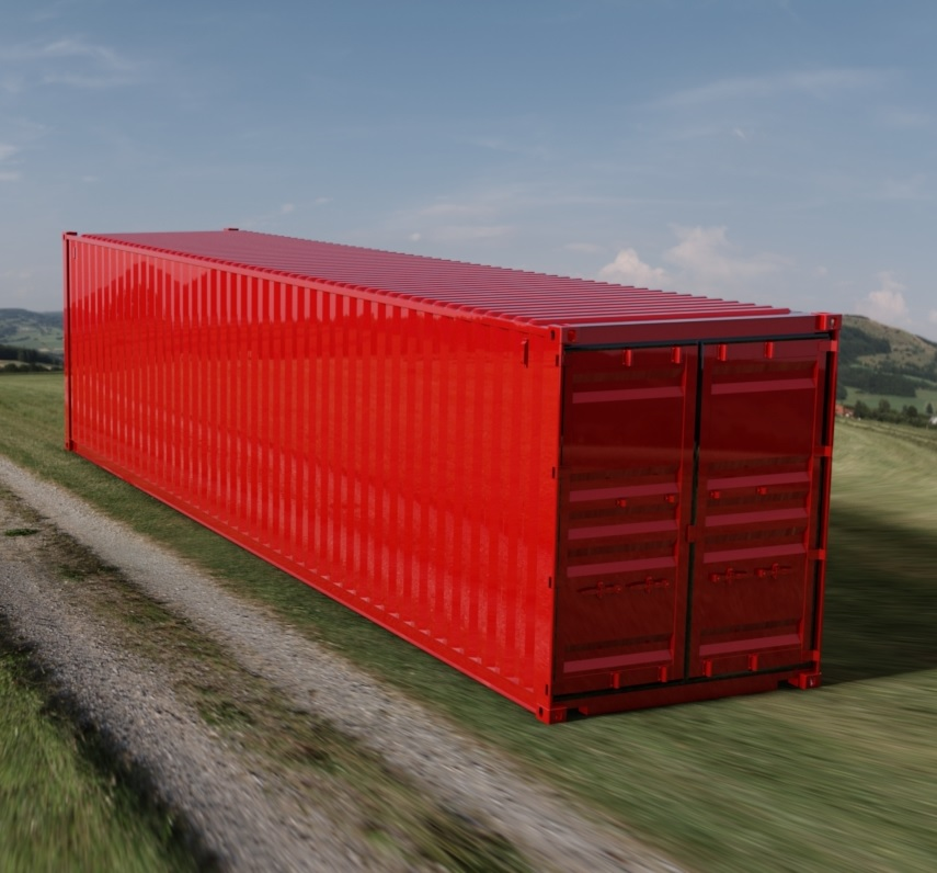 40ft High Cube ISO Shipping Container 3D CAD Model