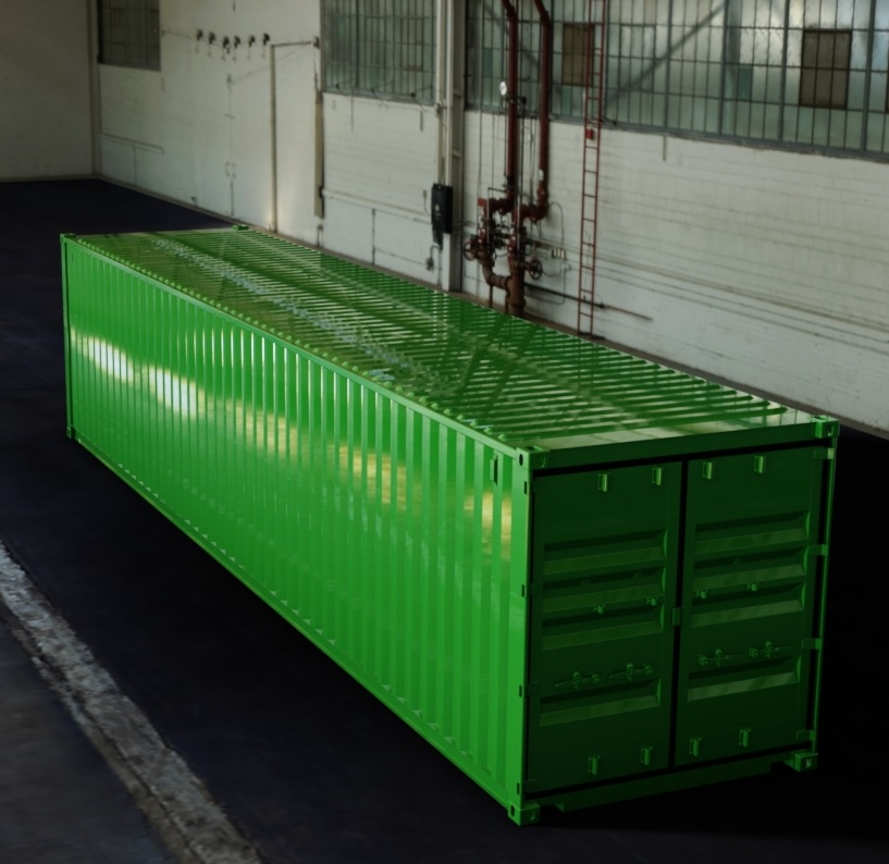 40ft ISO Shipping Container 3D CAD Model