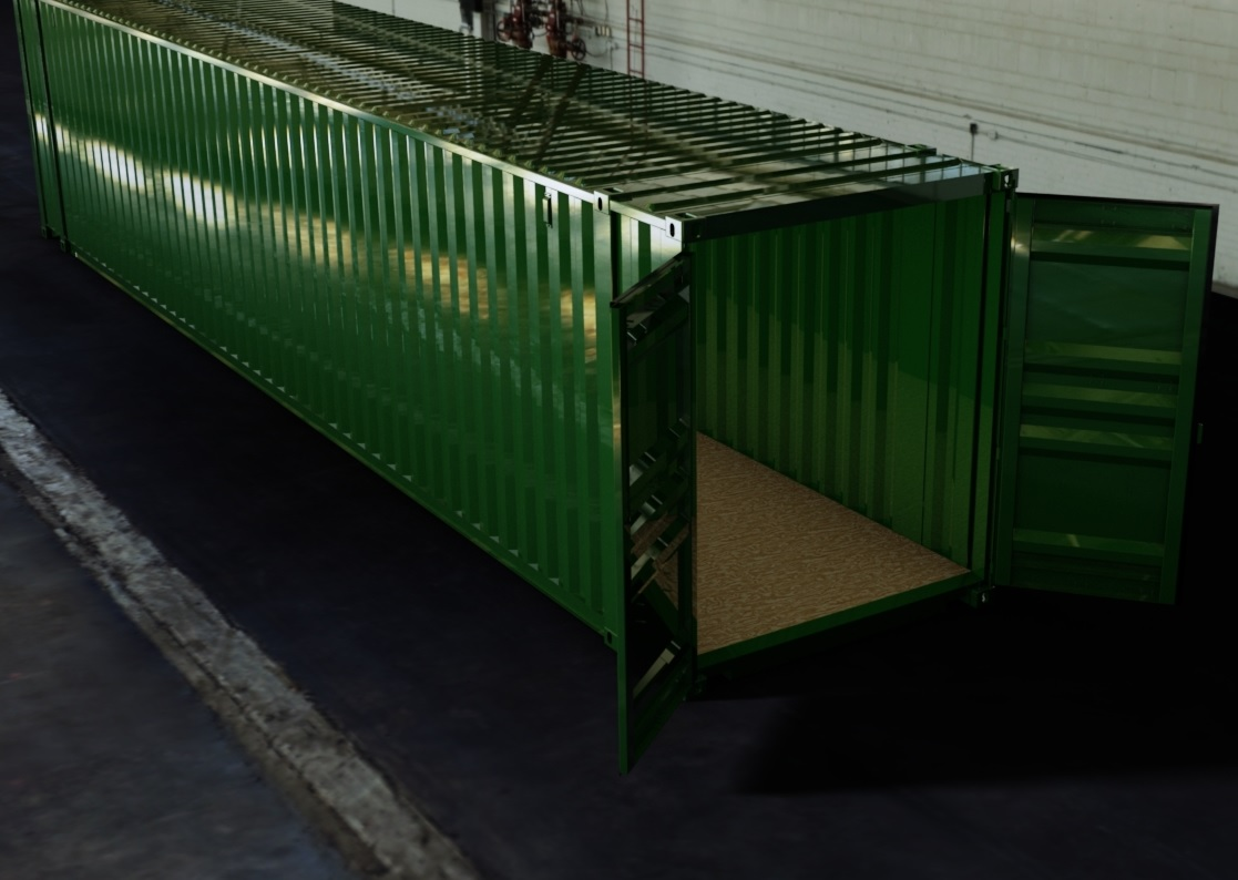 45ft ISO Shipping Container 3D CAD Model