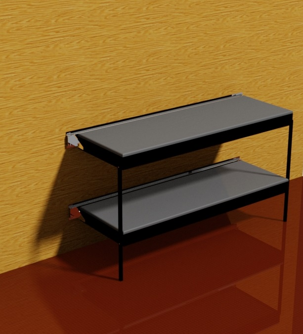 Wall Mounted Bunk Bed 3D CAD Model