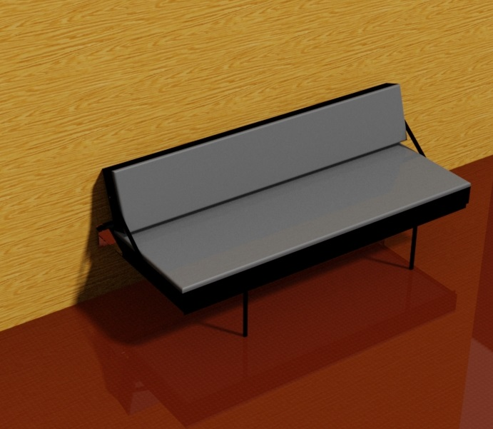 Wall Mounted Sofa Bed 3D CAD Model