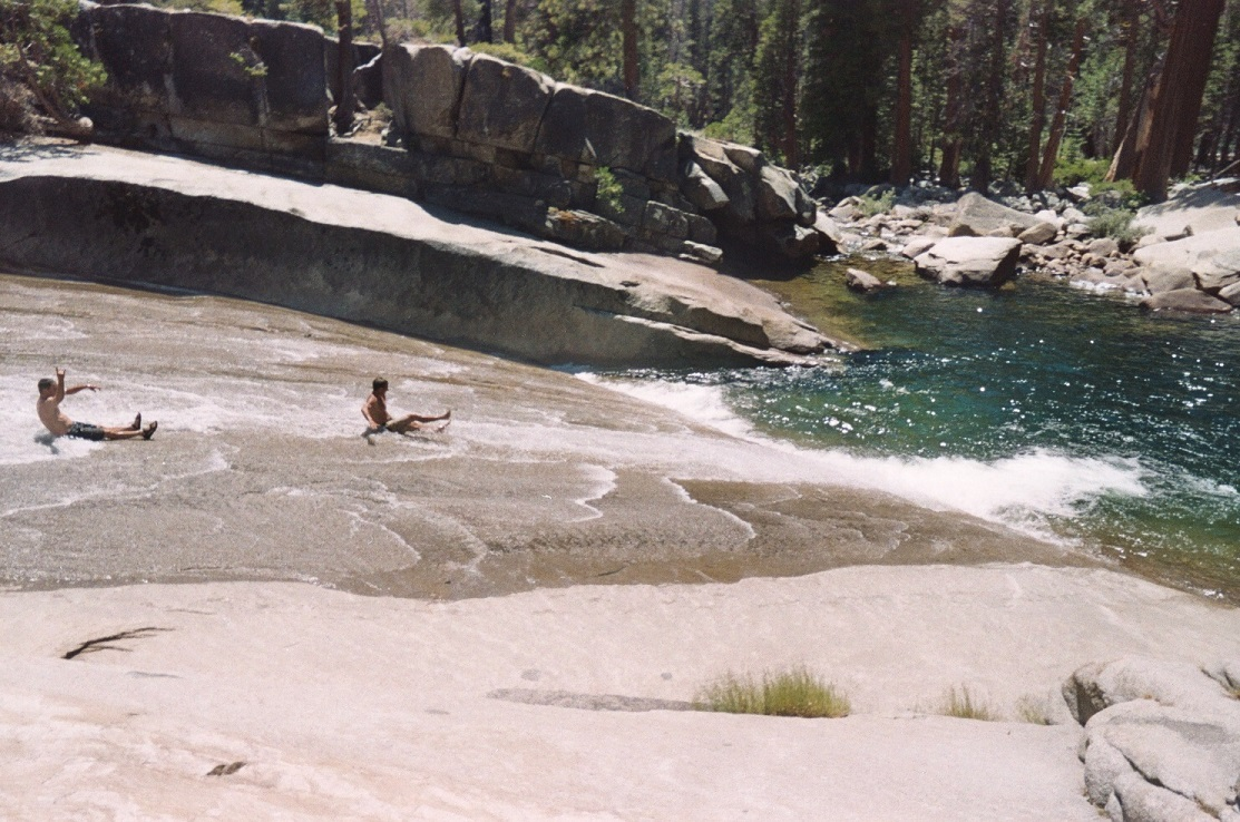 Backpacking Yosemite Waterslide