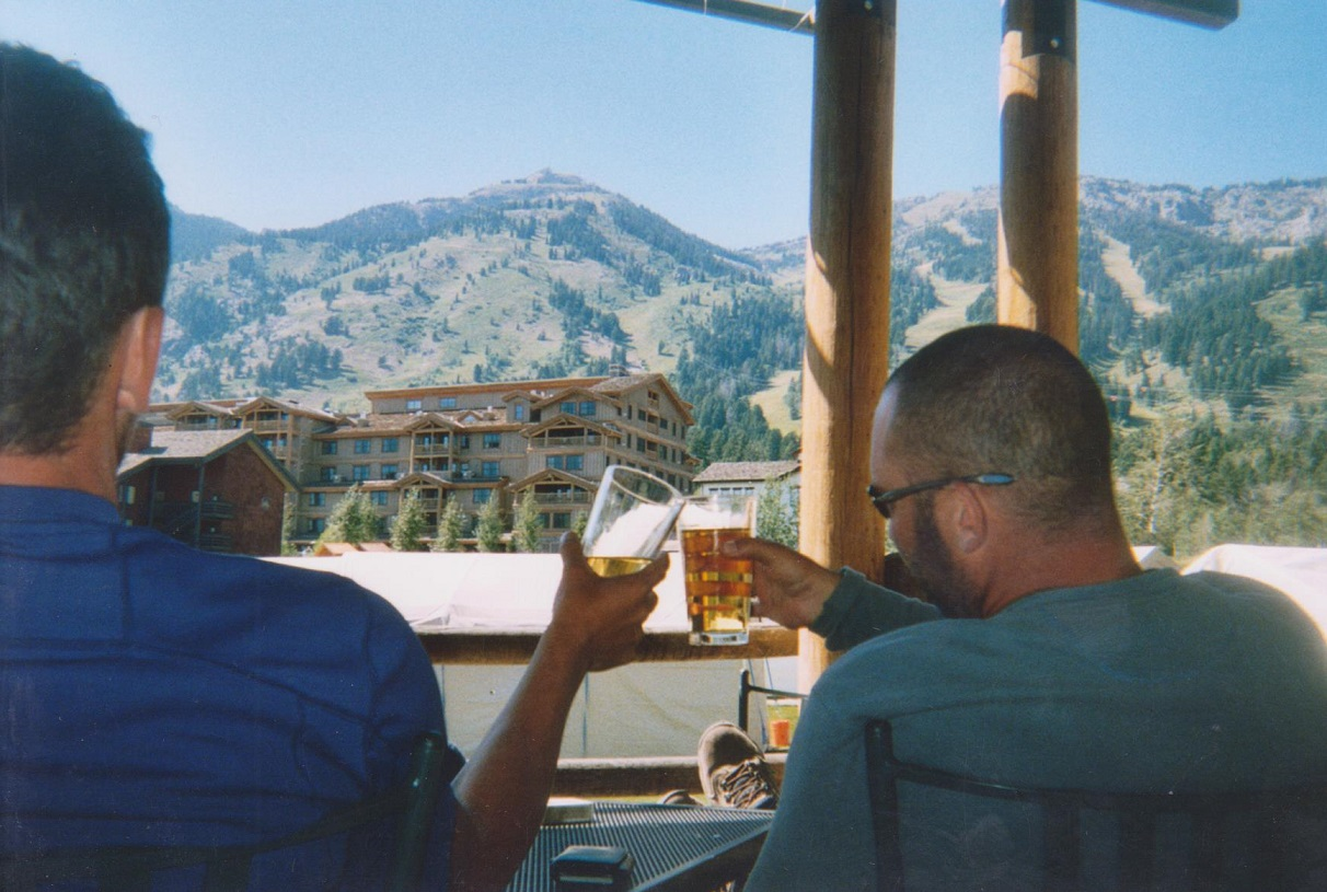 Backpacking the Grand Tetons Beers at Teton Village