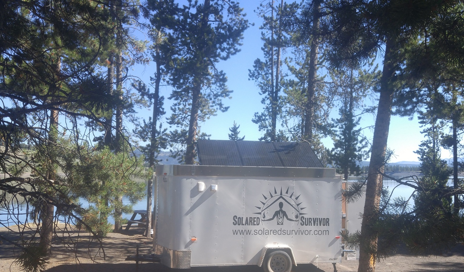 Solar Trailer at Yellowstone