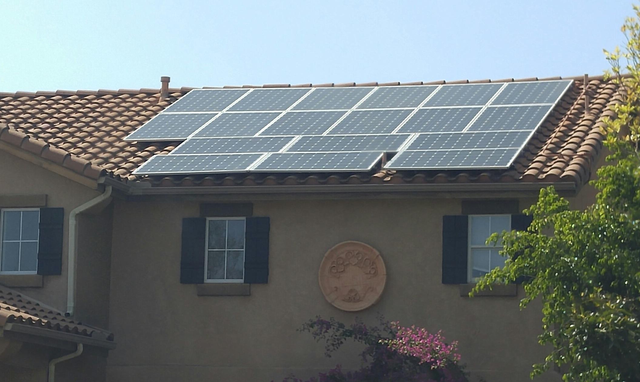 Residential Solar Power System Installed