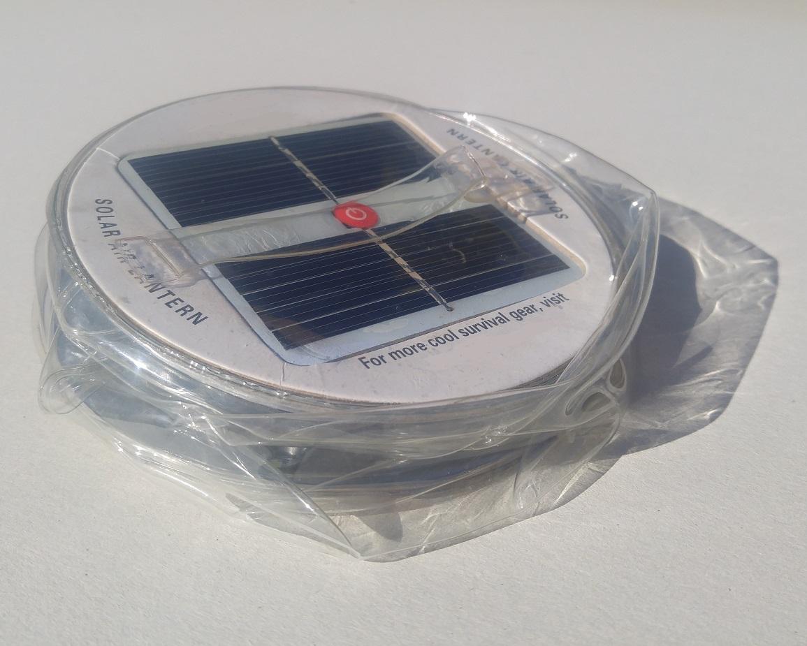 Rechargeable Emergency Light Solar Lantern Deflated